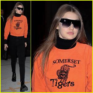 Gigi Hadid Makes Wearing a Sweatshirt Look So Chic