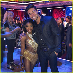 Jake Miller Roots On Pal Simone Biles at 'DWTS'!