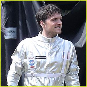 Josh Hutcherson Rocks a Spacesuit on 'Future Man' Set