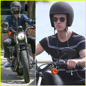 Justin Bieber Takes a Spin on a Motorcycle in Australia
