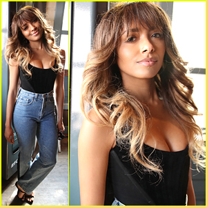 How To Get Kat Graham's 1970s Retro Feathered Waves