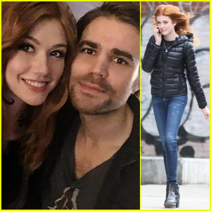 Katherine McNamara Snaps Selfie With 'Shadowhunters' Director Paul Wesley