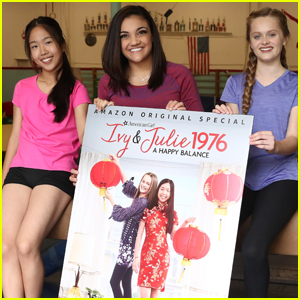 Laurie Hernandez Celebrates American Girl 'Ivy & Julie' Special With Stars Nina Lu & Hannah Nordberg