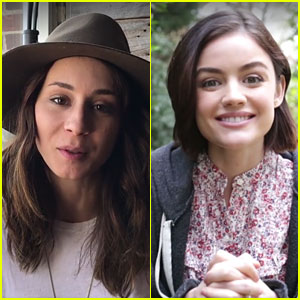 Troian Bellisario & Lucy Hale Share Special Messages For PLL Fans at PaleyFest