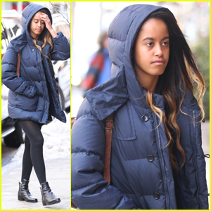 Malia Obama Keeps Casual For NYC Internship