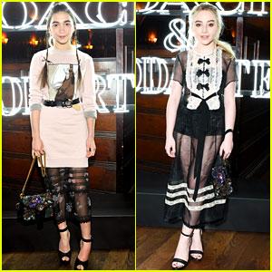 'Girl Meets World' Stars Rowan Blanchard & Sabrina Carpenter Are Twinning at Fashion Event