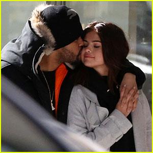 The Weeknd Gave Selena Gomez a Cute Kiss in Toronto!