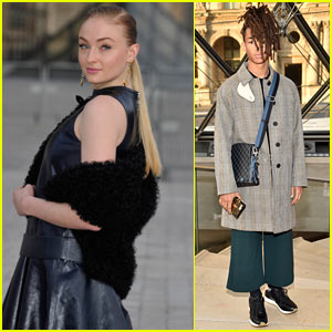 Sophie Turner & Jaden Smith Look Stylish at the 'Louis Vuitton' Fashion Show in Paris!