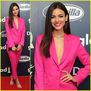 Victoria Justice Believes in the Power of Pink at GLAAD's Rising Stars Luncheon