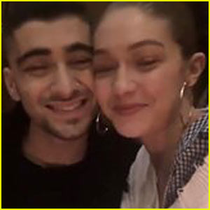 Zayn Malik Shares Cute Video with Gigi Hadid After Winning an iHeartRadio Award!