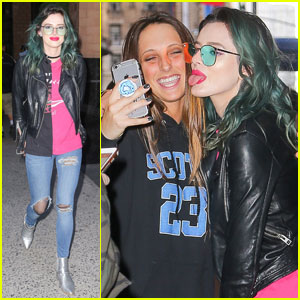 Bella Thorne Arrives in NYC For 'Famous in Love' Promo