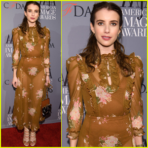 Emma Roberts Looks So Spring at American Image Awards 2017