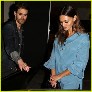 Paul Wesley Gets the Door for Ex Phoebe Tonkin During Night Out