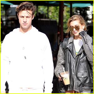 Cameron Dallas & Hailey Baldwin Keep Busy in LA