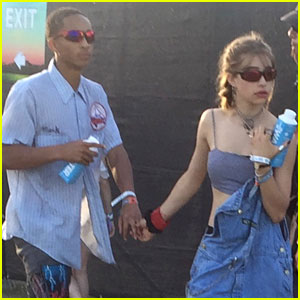 Jaden Smith Takes Break From Filming For Coachella With Girlfriend Odessa Adlon