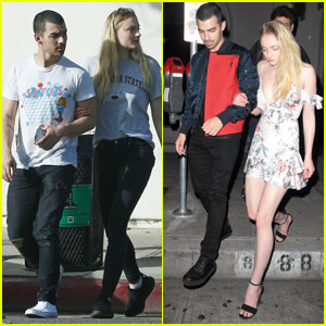 Joe Jonas & Sophie Turner Casually Go From Day to Night Date