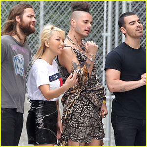 Joe Jonas & DNCE Shoot 'Undercover Lyft' Segment in LA