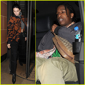 Kendall Jenner & A$AP Rocky Grab Italian Food in London