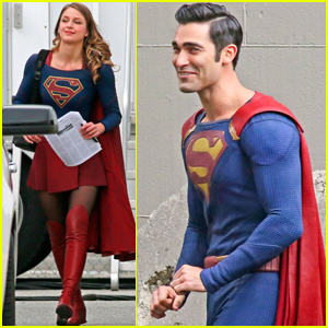 Melissa Benoist & Tyler Hoechlin Get Into Character on 'Supergirl' Set