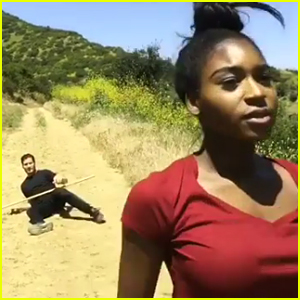 Normani Kordei & Val Chmerkovskiy Preview 'DWTS' Disney Night Dance With Cool Stick Fight