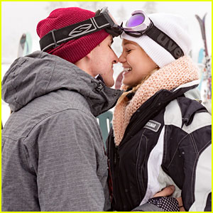 Olivia Holt and Boyfriend Ray Kearin Kiss & Cuddle On Their Ski Trip