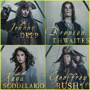 Brenton Thwaites & Kaya Scodelario Star in New 'Pirates of the Caribbean 5' Posters