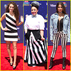 Raven Symone, Madison Pettis & Symon Wear Stripes To RDMAs 2017!