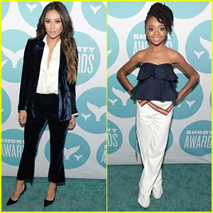 Shay Mitchell & Skai Jackson Hit Up Shorty Awards 2017 in NYC