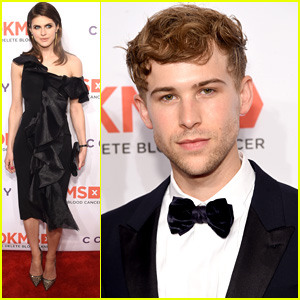 Tommy Dorfman Suits Up For DKMS Gala with Alexandra Daddario