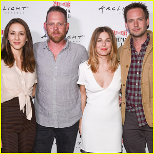 Troian bellisario returns to suits as claire patrick j adams troian bellisario patrick j adams couple up for movie night thecheapjerseys Gallery