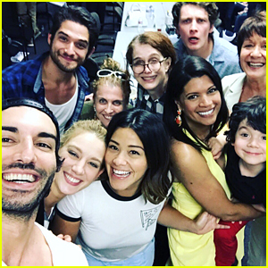 Tyler Posey Looks Right at Home in New 'Jane The Virgin' Set Selfie
