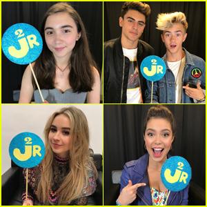 EXCLUSIVE: JJJ At WE Day With Rowan Blanchard, Sabrina Carpenter & More