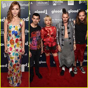AnnaSophia Robb & DNCE Hit Up GLAAD Media Awards 2017