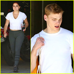 Ariel Winter & Boyfriend Levi Meaden Get Their Sweat On at the Gym