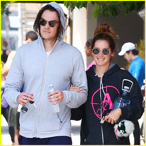 Ashley Tisdale Wears Husband Christopher French's Band Hoodie