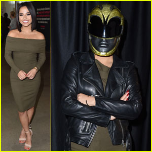 Becky G Casually Shows Up to an Event Wearing Her Power Rangers Helmet