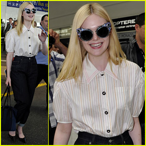 Elle Fanning Arrives for Cannes Film Festival - She Has Two Films Premiering!
