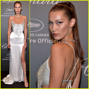 Bella Hadid is All About the Sparkles & Cat Eye at Chopard Space Party