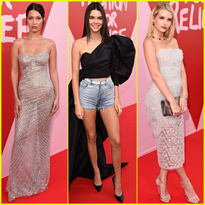Bella Hadid, Kendall Jenner, & Lottie Moss Style Up at Fashion For Relief Event