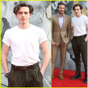 Brooklyn Beckham Shows Off His New Tattoo at the 'King Arthur' Premiere!