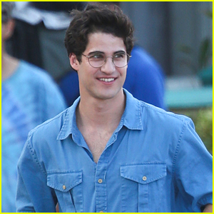 Darren Criss is All Smiles on Set of 'American Crime Story'