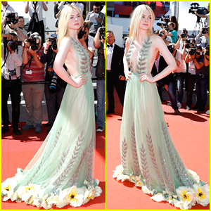 The Bottom of Elle Fanning's Gucci Dress at Cannes is So Gorgeous!