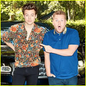 Harry Styles Goes Solo for Corden's 'Carpool Karaoke' (Video)