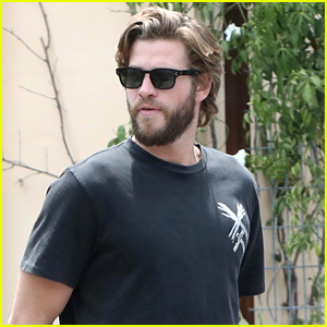 Liam Hemsworth Hangs Out with Friends on His Day Off