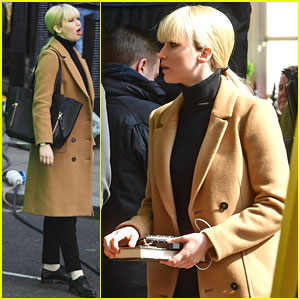 Jennifer Lawrence Looks The Part For 'Red Sparrow' Filming
