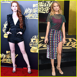 'Riverdale's Madelaine Petsch Wows In Chic Black Romper at MTV Movie & TV Awards 2017