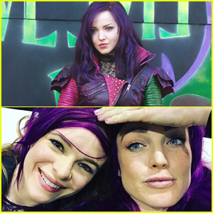 CW Stars Danielle Panabaker & Caity Lotz Pull Off Purple Hair as Fiercely as 'Descendants' Mal Does