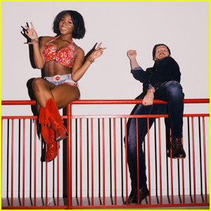 Normani Kordei & Val Chmerkovskiy Get Silly in 'DWTS' Backstage Pics