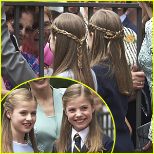 Princesses Leonor & Sofia of Spain Match Their Hairstyles For Sofia's First Communion