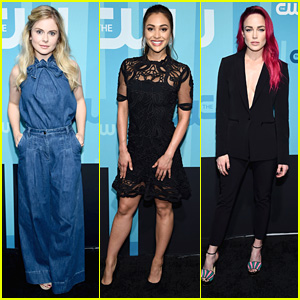 Rose McIver, Caity Lotz, & Lindsey Morgan Step Out For CW UPfronts 2017
